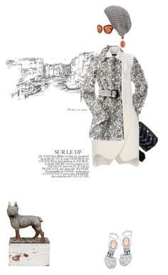 Glitterbug by pensivepeacock on Polyvore featuring polyvore fashion style French Connection Thierry Mugler Christian Louboutin Chanel Miu Miu Cara Burberry Bela clothing
