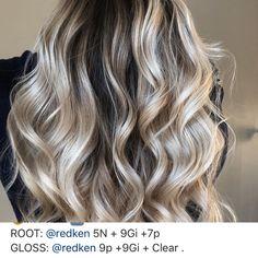 Redken Hair Color, Hair Color Balayage, Redken Hair Products, Hair Color Formulas, Teased Hair, Ash Blonde, Hair Art, Cosmetology, Diy Hairstyles