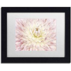 Trademark Fine Art 'Dahlia Flower' Canvas Art by Cora Niele, White Matte, Black Frame, Size: 16 x 20, Multicolor