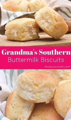 Grandma& Southern Buttermilk Biscuits This recipe is hands down the Best Ho. - Grandma& Southern Buttermilk Biscuits This recipe is hands down the Best Homemade Cinnamon Ro - Bread Machine Recipes, Easy Bread Recipes, Baking Recipes, Grandma's Recipes, Juice Recipes, Pudding Recipes, Dinner Recipes, Breakfast Recipes, Baking Ideas