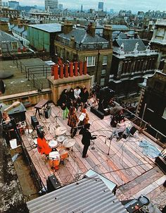 The Beatles' rooftop concert in 1969