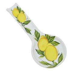 Lemon Spoon Rest by Abbiamo Tutto Kitchen Spoon, New Kitchen, Kitchen Dining, Summer Kitchen, Kitchen Stuff, Kitchen Cabinets, Kitchen Appliances, Lemon Kitchen Decor, Kitchen Decor Themes