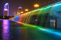 #travel #banpo #bridge #han #river #korean #korea #asian #asia #seoul #beautiful #color #night ♥♥♥