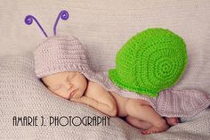 Snail Costume - Hat and back cover set - Photo Prop or Baby Shower Gift - Pick your color. $35.00, via Etsy.