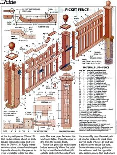 Build Picket Fence - Outdoor Plans