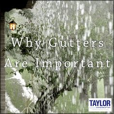 Not having a proper gutter system can cause damage to the foundation of your home. During a very rainy season, the soils around a home become saturated with water and begin to expand. As the soils dry out, they contract. If this cycle is repeated enough, it could cause support to the foundation to be compromised. #Gutters #GuttersAreImportant #ProtectYourHome