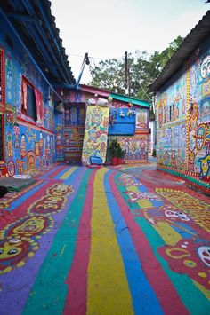Rainbow Family Village in Taichung, Taiwan. So gorgeous, I want to go here!