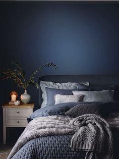 blue bedroom shabby chic bedroom mystery bedroom romantic bedroom nighslee memory foam mattress Romantic Bedroom With Roses Dark Blue Bedrooms, Navy Bedrooms, Shabby Chic Bedrooms, Blue Rooms, Trendy Bedroom, Bedroom Romantic, Romantic Night, Burgundy Bedroom, Blue Bedroom Decor