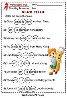 Color the correct choice ( am is are) - Worksheets PDF English Grammar For Kids, English Phonics, Learning English For Kids, Teaching English Grammar, English Worksheets For Kids, English Lessons For Kids, Kids English, English Writing Skills, Learn English Words