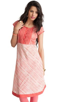 This is something you are sure to love a perfect kurti for a perfect you! Find it here>  http://shopnaari.com/products/printed-empire-line-kurti