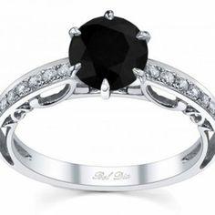 Biggest Black Diamond Engagement Ring Ever 7