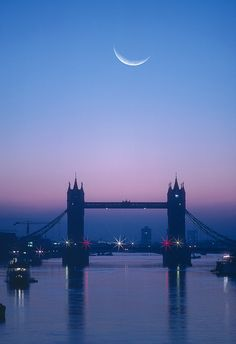 England, London, Moon Rising Over River Thames (digital Composite) by Grant Faint