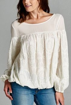 Claudia Top in French Vintage