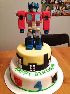 4th birthday transformer cake by lauren (20120420)