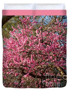 """Spring Blossom Tree by Kaye Menner Queen (88"""" x 88"""") Duvet Cover"""