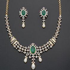 Diamond Necklace Sets  Product Code:M_D_NS_114