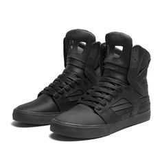 Black high tops for everyday SUPRA SKYTOP II Shoe | BLACK - BLACK | Official SUPRA Footwear Site