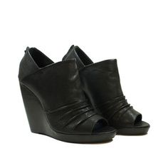 Yasmin Wedge Black, $70.50, now featured on Fab.