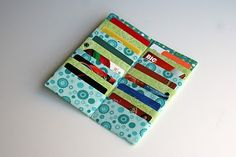 Quality Sewing Tutorials: Card Wallet tutorial by Nancy's Couture Small Sewing Projects, Sewing Hacks, Sewing Tutorials, Sewing Crafts, Tape Crafts, Sew Wallet, Card Wallet, Sewing Patterns Free, Free Sewing