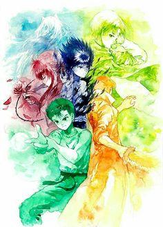 Yu Yu Hakusho | Hiei | Kuwabara | Youko Kurama | Yusuke | Koenma | Anime Manga Anime, Film Anime, Anime Art, Yu Yu Hakusho Anime, Fox Boy, Arte Nerd, Yoshihiro Togashi, Otaku, Anime Tattoos
