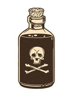 Poison Skull Bottle