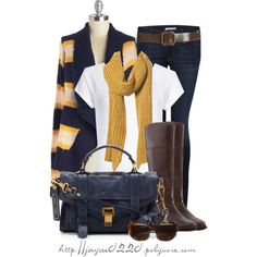 """""""Navy and Yellow"""" by jaycee0220 on Polyvore"""