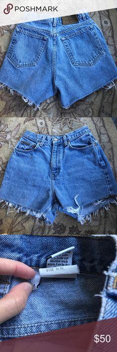 Vintage Calvin Klein denim shorts Vintage Calvin- true denim- high waisted- says size 8 but fits like a 4-6 Calvin Klein Jeans Shorts Jean Shorts