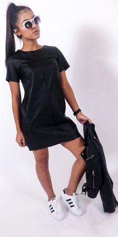 Night Cap Leather Dress from 7venon7ven