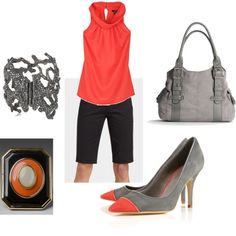 grey and coral...