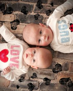 love bugs- Valentines day outfit for Twins!