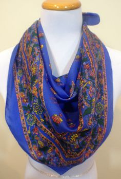 Woman's Scarf Vintage Scarves Spring Scarf by PrettyVintageScarves, $18.50