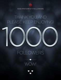 Thank you all so much for 1000 followers ! To celebrate, I'm going to pin this to my most popular boards ! SO WHAT YOU NEED TO DO IS: comment below your favorite character/thing (Ex: fav pokemon, fav couple in SAO or Sonic, fav ghibli movie, fav. Anime character/figure, etc.) pertaining to the board this is on and I will randomly pick a 'winner'. I will spam pin only what they commented for the entire day ! Thanks again ! ^_^ Here's to the next 1000