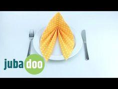 Servietten falten: Blatt - YouTube