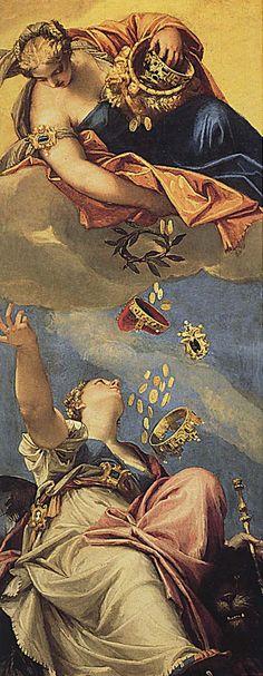 Venezia riceve da Giunone il corno ducale di Veronese - Descrizione dell'opera e mostre in corso - Arte.it