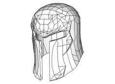 X-Men - Life Size Magneto's Helmet Papercraft Ver.3 for Cosplay Free Download…