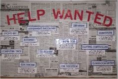 Bulletin board -@Chanda Goins Maxwell - We should do this for open positions in the spring Classroom Jobs, Classroom Organization, Classroom Management, Classroom Decor, Future Classroom, Classroom Activities, Classroom Helpers, Superhero Classroom, Classroom Design