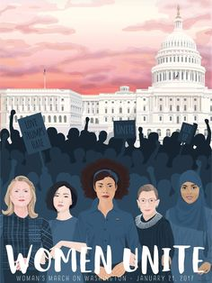 Women's March on Washington poster  www.etsy.com/shop/ BloomingAnchor  Protest art