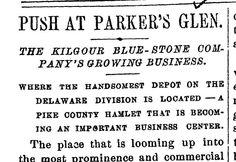 Parker's Glen, PA, 1883 The Quarrymen, Business Centre