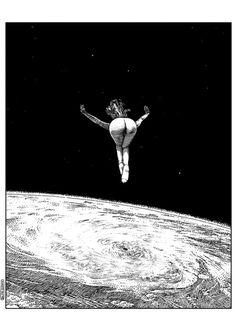 lesstalkmoreillustration: Apollonia Saintclair apolloniasaintclairGaze into the abyss