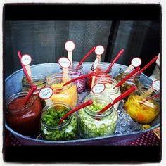 Strawberry Fizz Party Ideas: Nacho, Taco or Hamburger bar mmmmmm