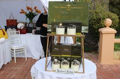 Michael Aram candles at Pre Oscar Charity Event supporting HALF THE SKY MOVEMENT (HalfTheSkyMovement.org) a day of Ladies fun and glamour