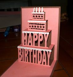 Birthday pop up card katwms