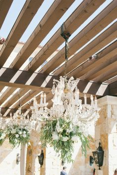 Gorgeous chandeliers: http://www.stylemepretty.com/2015/04/03/red-pink-malibu-mountaintop-wedding/ | Photography: Onelove - http://www.onelove-photo.com/