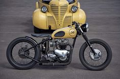 1956 Triumph Bobber 'Old - Foundry Motorcycle - The Bike Shed. Love this, one day, when time and money permit. Triumph Bobber, Motos Bobber, Bobber Bikes, Bobber Motorcycle, Bobber Chopper, Triumph Motorcycles, Motorcycle Quotes, Women Motorcycle, Triumph 650