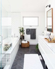 A bit of bathroom inspiration by @crateandbarrel + @100_layercake photography by @jeffmindell