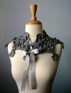 Couture Crochet neckwarmer | Flickr - Photo Sharing!
