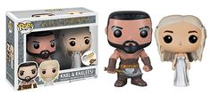 Funko POP Vinyl Game of Thrones Khal Drogo and Khaleesi Dany Wedding Set - Sniff :-( ...