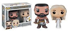 Funko POP Vinyl Game of Thrones Khal Drogo and Khaleesi Dany Wedding Set - Sniff :-( ...