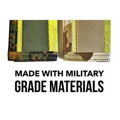 """I use 1.5"""" Mil-spec nylon elastic and 1"""" Mil-spec binding on my Rookies and Sergeants The U.S. military uses this same elastic and binding for bags clothing and all sorts of other gear. Made in the USA with USA materials"""