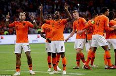 Memphis Depay (left) and Gini Wijnaldum (No and Virgil van Dijk (No scored for Holland Memphis Depay, Virgil Van Dijk, Liverpool Fc, Soccer Players, Fifa, World Cup, Euro, Russia, Germany